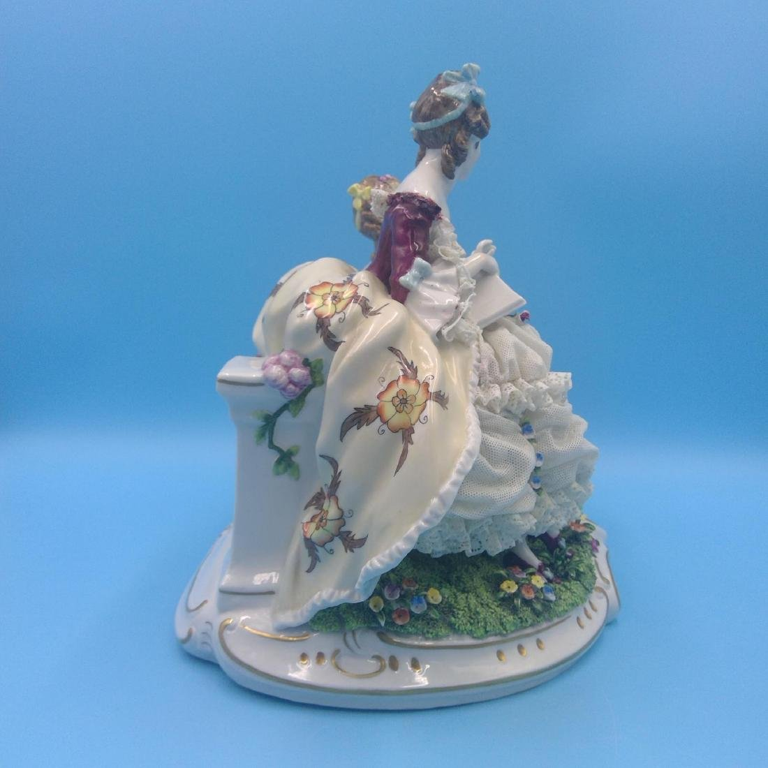 UNTER WEISS BACH LARGE GERMAN PORCELAIN GROUP - 4