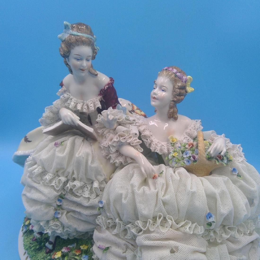 UNTER WEISS BACH LARGE GERMAN PORCELAIN GROUP - 5