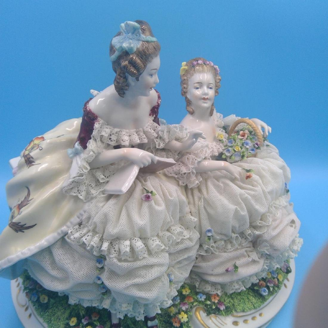 UNTER WEISS BACH LARGE GERMAN PORCELAIN GROUP - 6