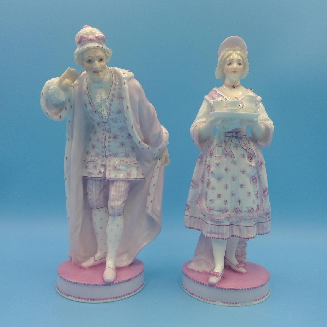 PAIR OF 19thC FRENCH VION & BAURY FIGURINES