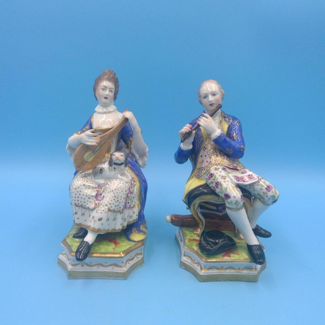 PAIR OF DERBY 18thC ENGLISH PORCELAIN FIGURINES