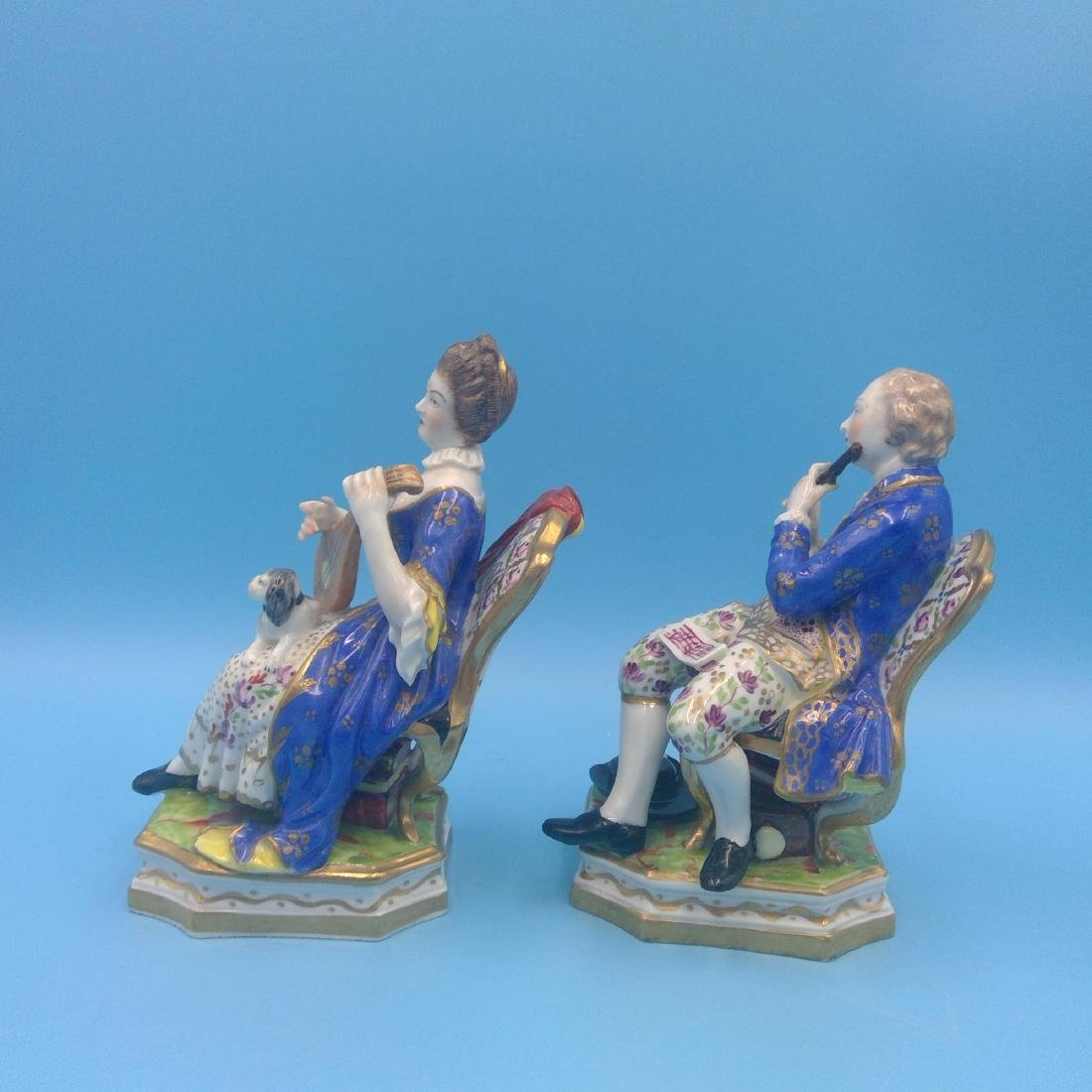 PAIR OF DERBY 18thC ENGLISH PORCELAIN FIGURINES - 2