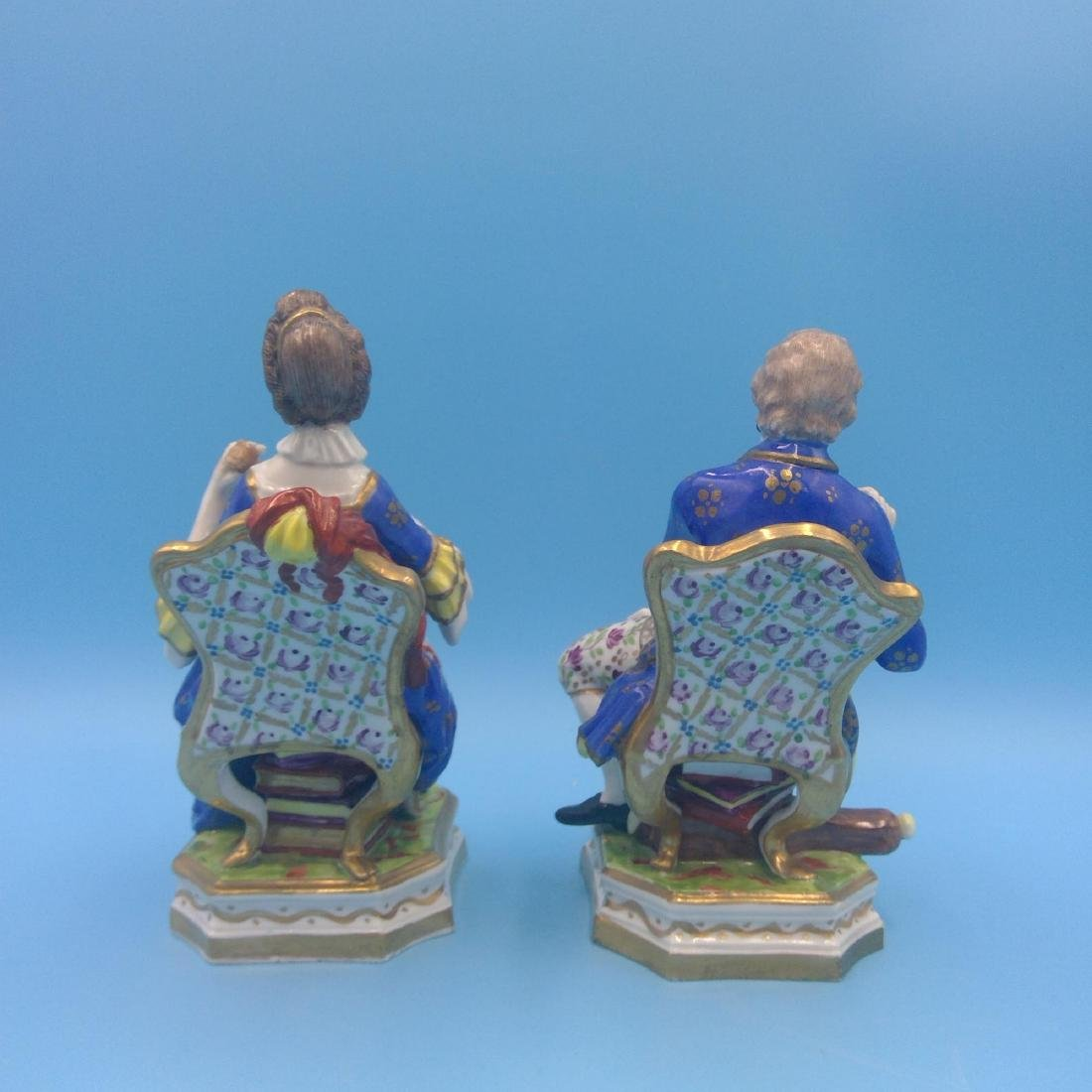 PAIR OF DERBY 18thC ENGLISH PORCELAIN FIGURINES - 3