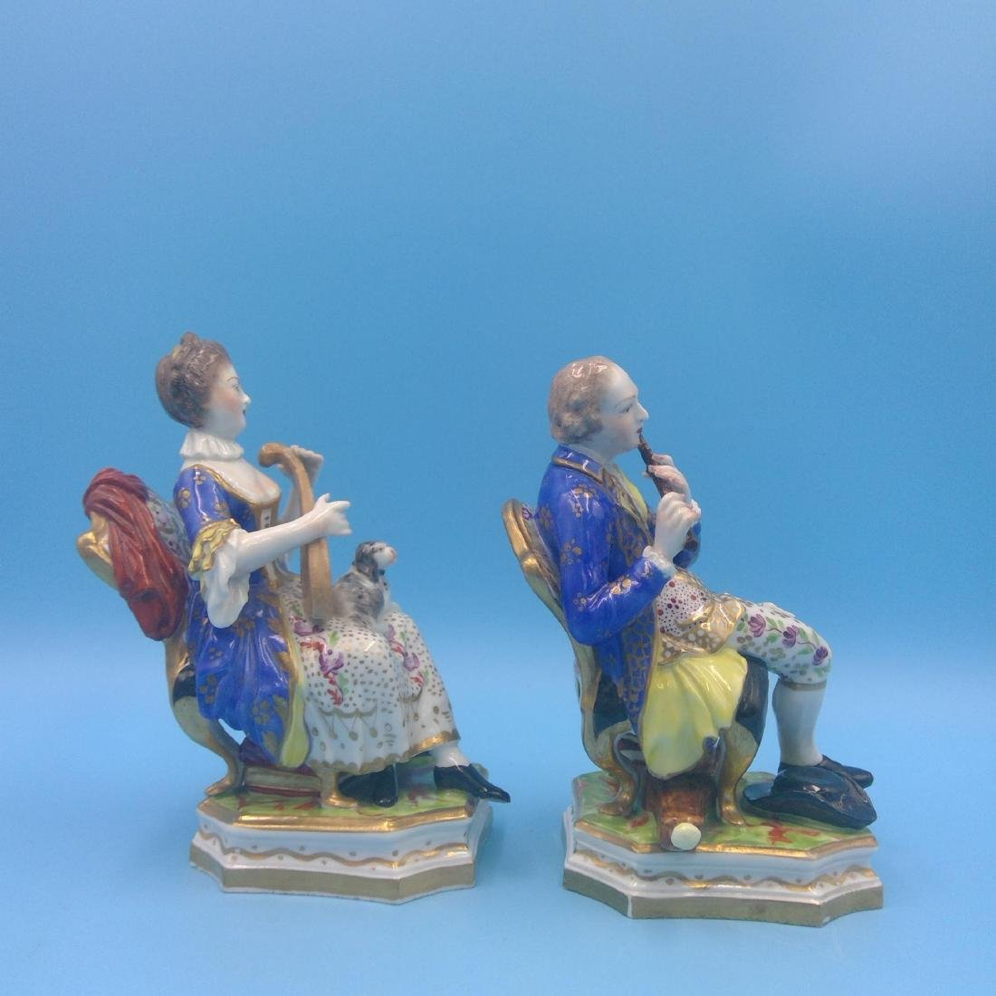 PAIR OF DERBY 18thC ENGLISH PORCELAIN FIGURINES - 4