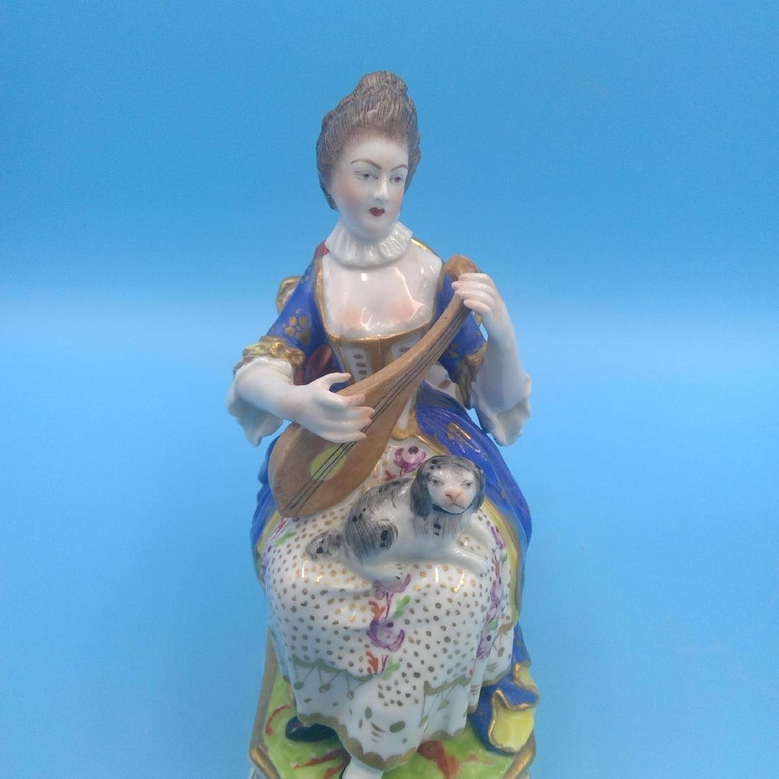 PAIR OF DERBY 18thC ENGLISH PORCELAIN FIGURINES - 5