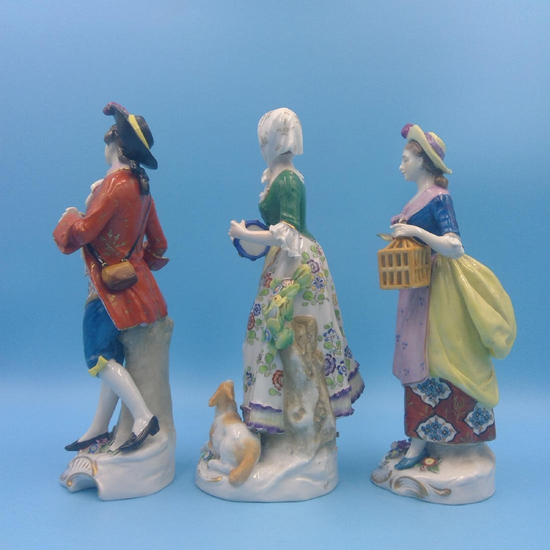 GROUP OF 3 CHELSEA 18thC ENGLISH PORCELAIN FIGURES - 2