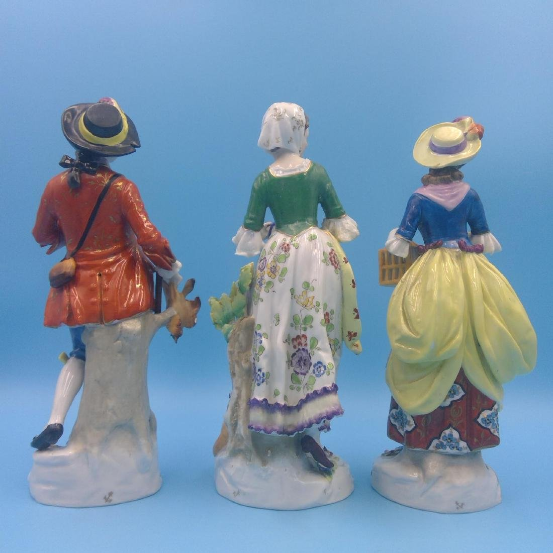 GROUP OF 3 CHELSEA 18thC ENGLISH PORCELAIN FIGURES - 3