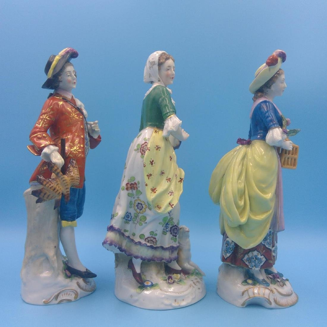GROUP OF 3 CHELSEA 18thC ENGLISH PORCELAIN FIGURES - 4