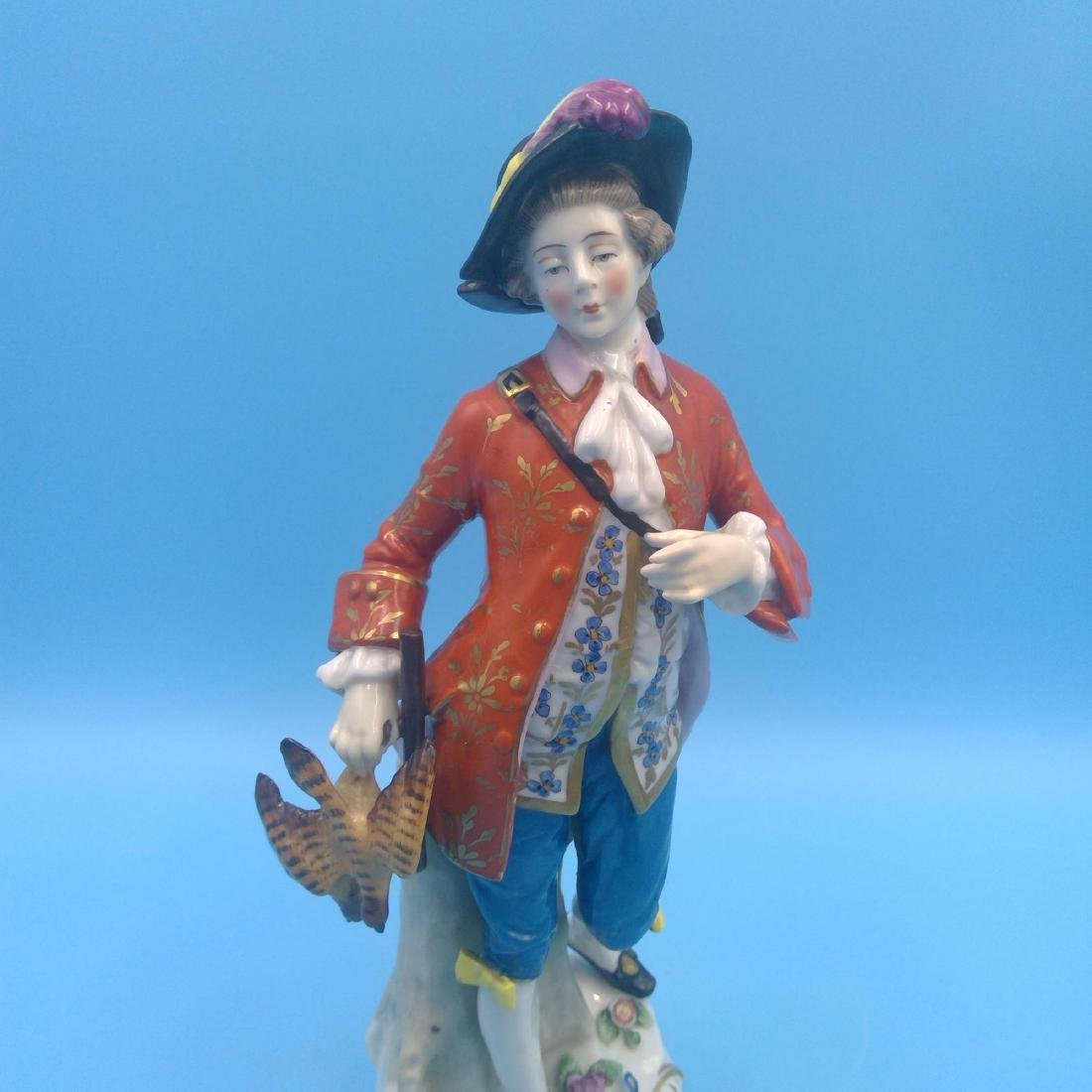 GROUP OF 3 CHELSEA 18thC ENGLISH PORCELAIN FIGURES - 6