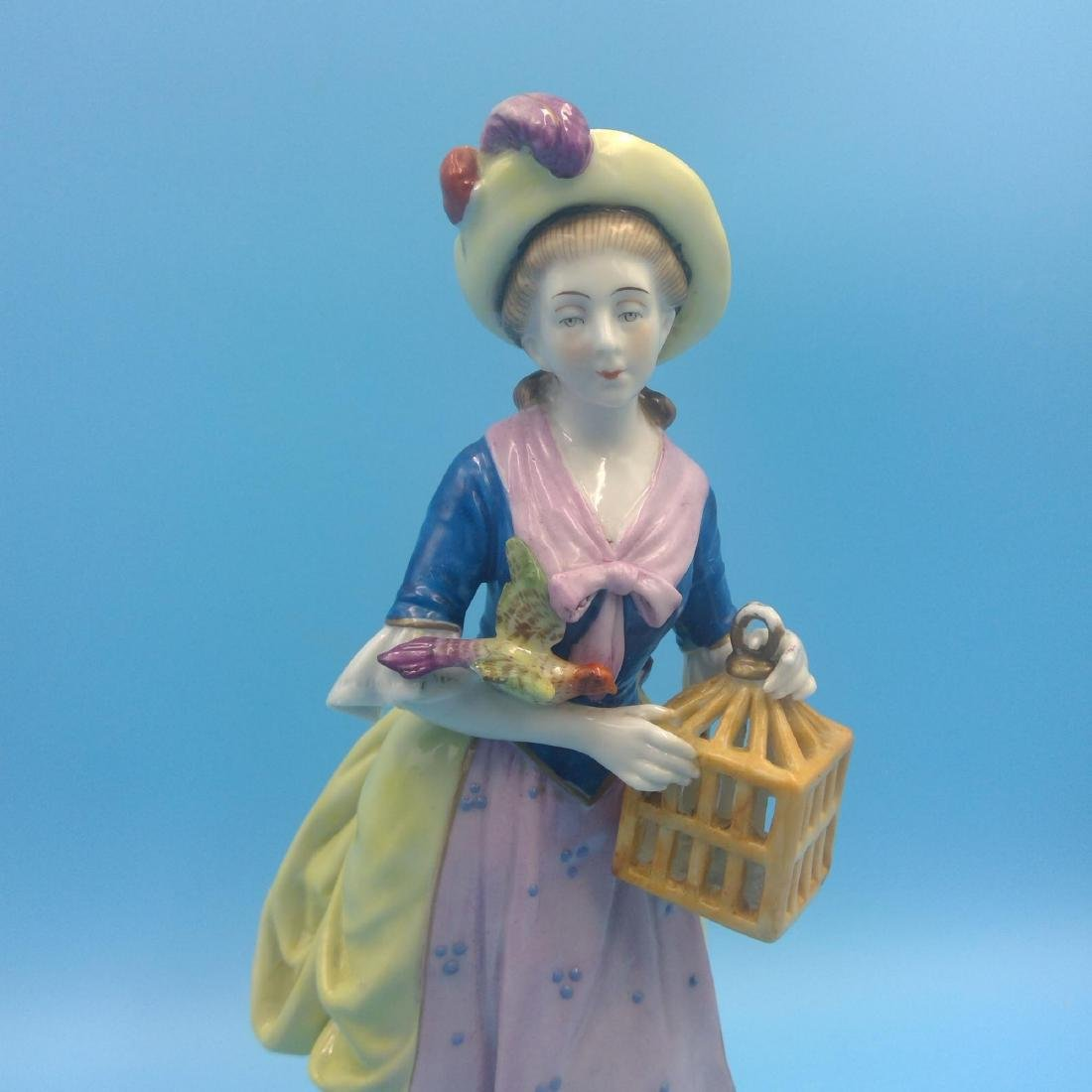 GROUP OF 3 CHELSEA 18thC ENGLISH PORCELAIN FIGURES - 8