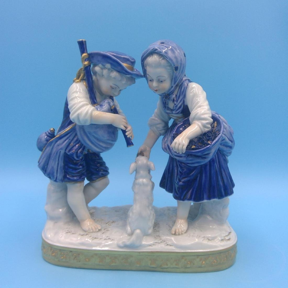 GROUP OF 4 ANTIQUE GERMAN PORCELAIN FIGURINES - 2