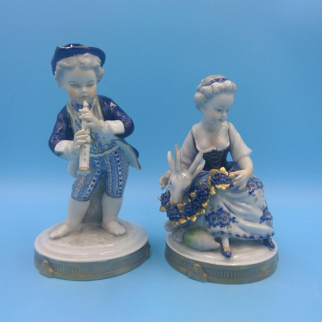 GROUP OF 4 ANTIQUE GERMAN PORCELAIN FIGURINES - 5