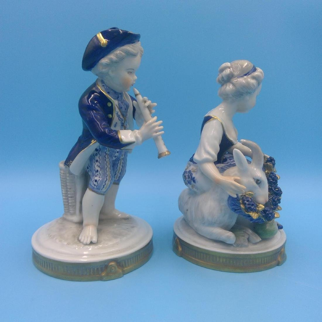 GROUP OF 4 ANTIQUE GERMAN PORCELAIN FIGURINES - 6