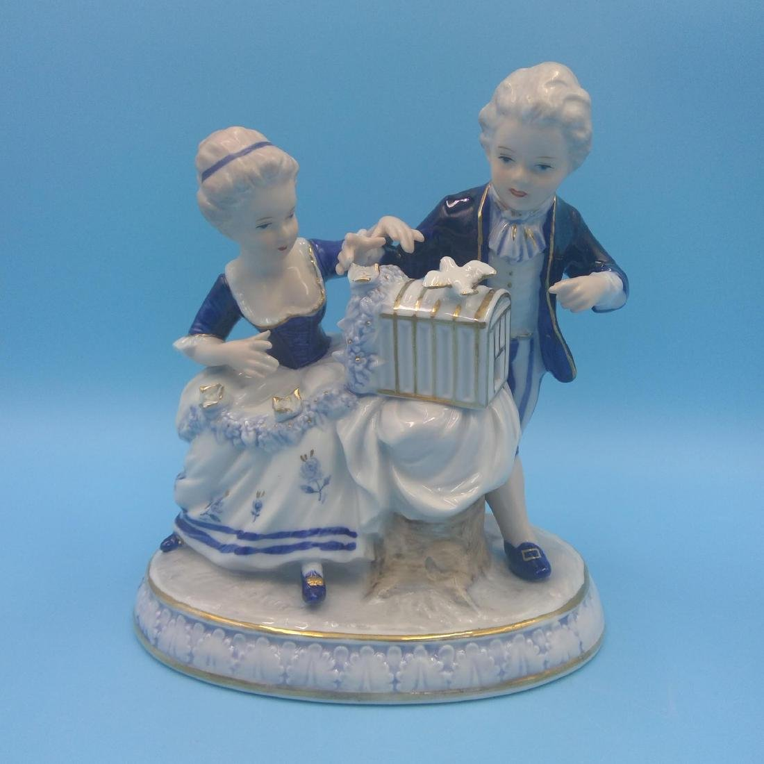 GROUP OF 4 ANTIQUE GERMAN PORCELAIN FIGURINES - 8