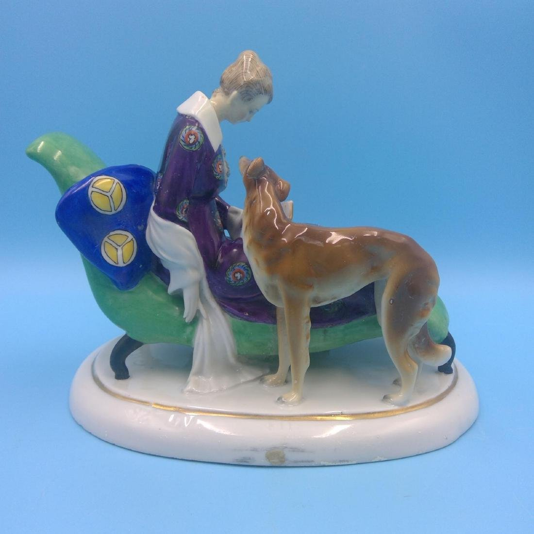 GOEBEL ART DECO GERMAN PORCELAIN FIGURINE - 3