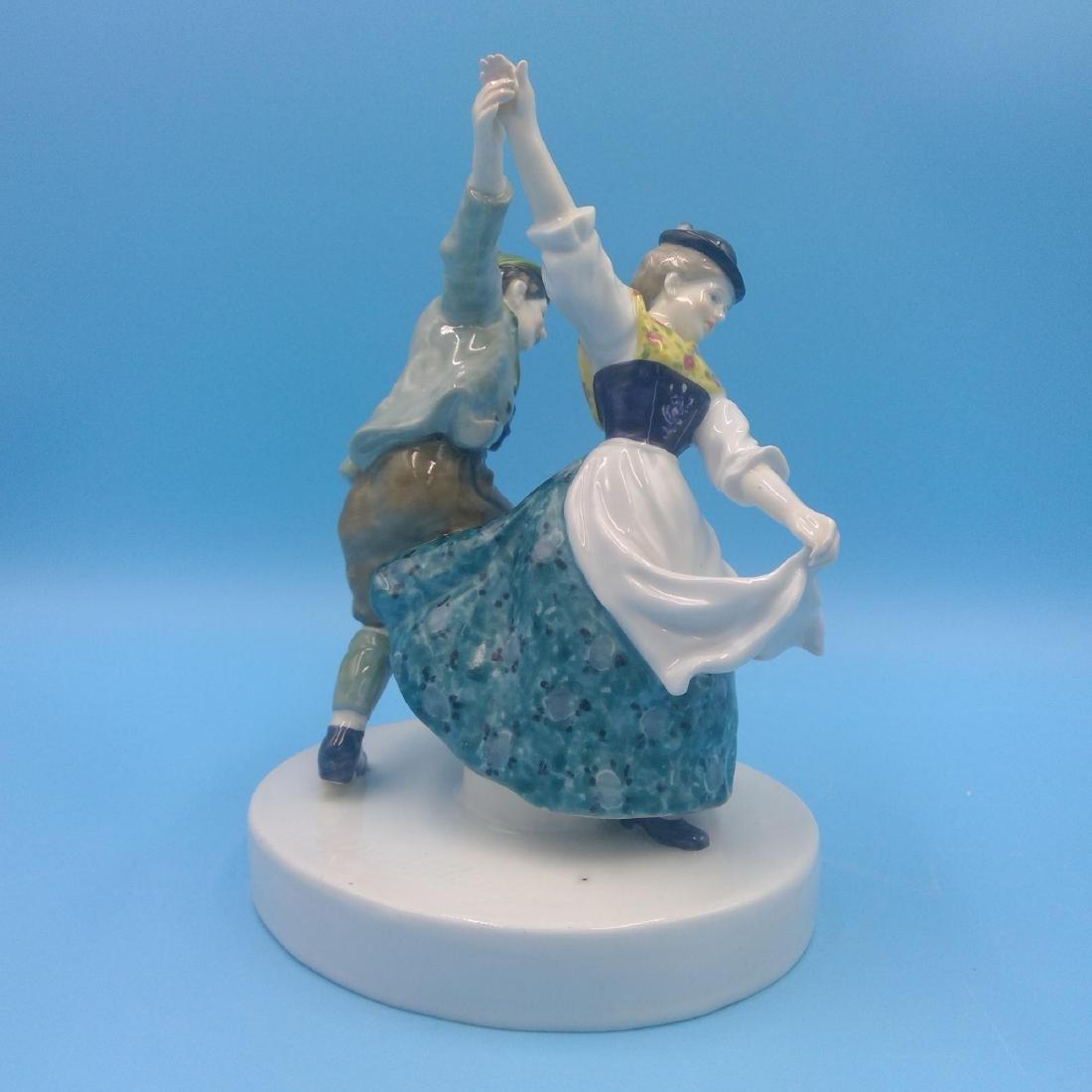 KARL ENS GERMAN PORCELAIN FIGURINE DANCING COUPLE - 4