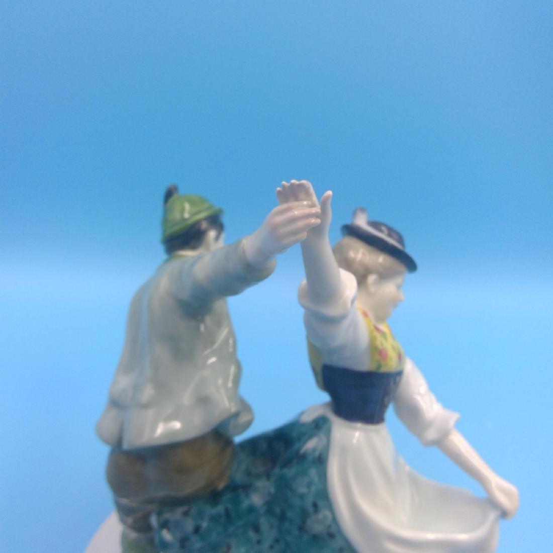 KARL ENS GERMAN PORCELAIN FIGURINE DANCING COUPLE - 5