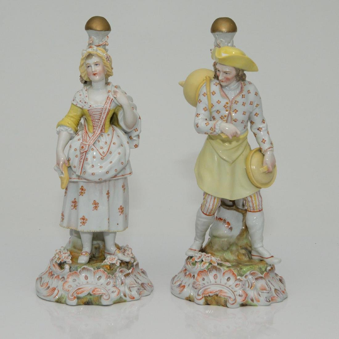 PAIR MEISSEN JOHANSEN ROTH LARGE FIGURINES