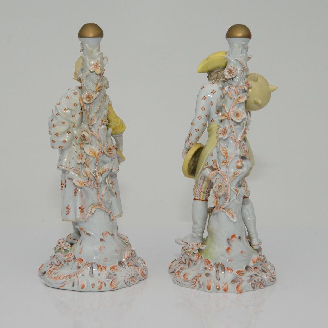 PAIR MEISSEN JOHANSEN ROTH LARGE FIGURINES - 2