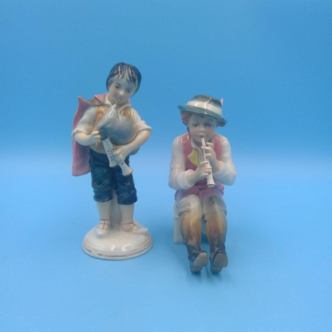 GROUP OF 2 KARL ENS MUSICIANS FIGURINES