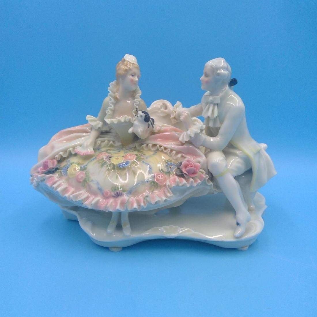KARL ENS GERMAN PORCELAIN FIGURINE COURTING COUPLE