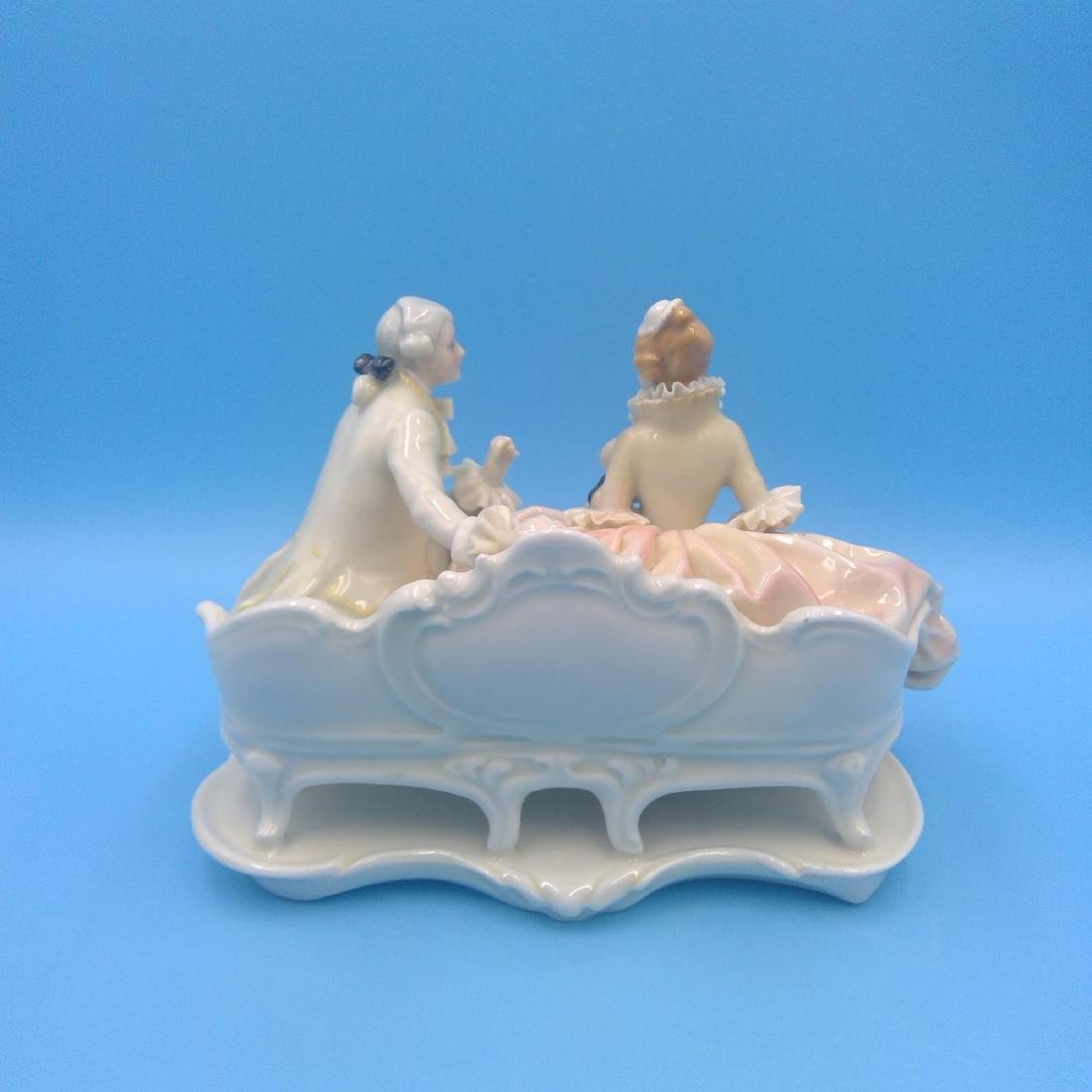 KARL ENS GERMAN PORCELAIN FIGURINE COURTING COUPLE - 3