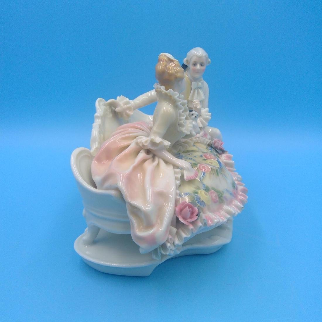 KARL ENS GERMAN PORCELAIN FIGURINE COURTING COUPLE - 4