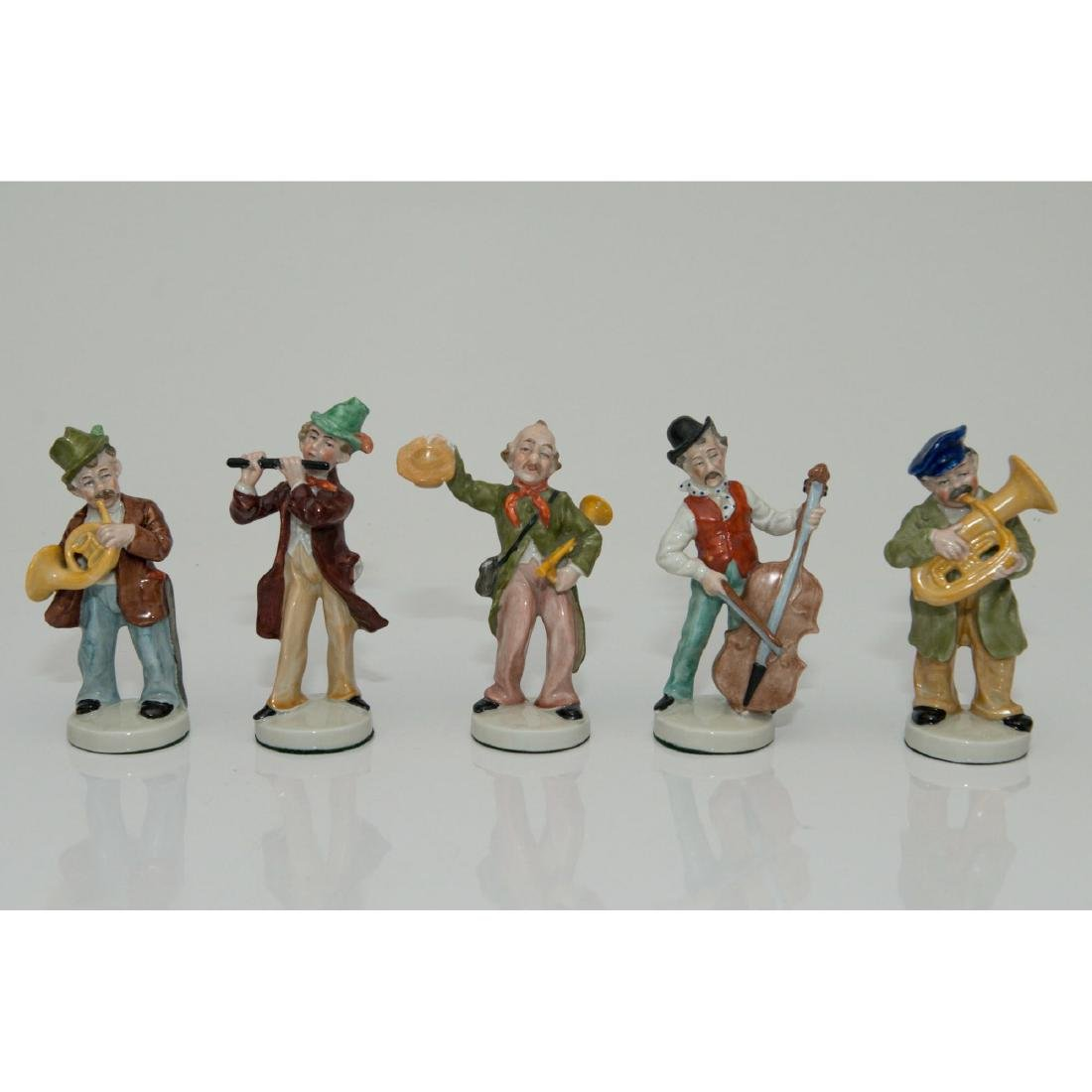 GROUP OF 5 GRAFENTHAL GERMAN ORCHESTRA FIGURINES