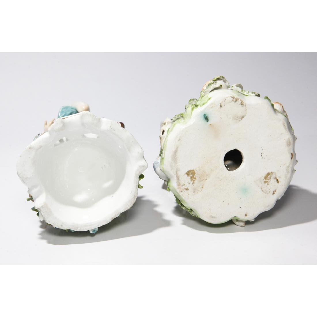 PAIR DERBY 18thC PORCELAIN GROUP NEPTUNE & EUROPA - 7