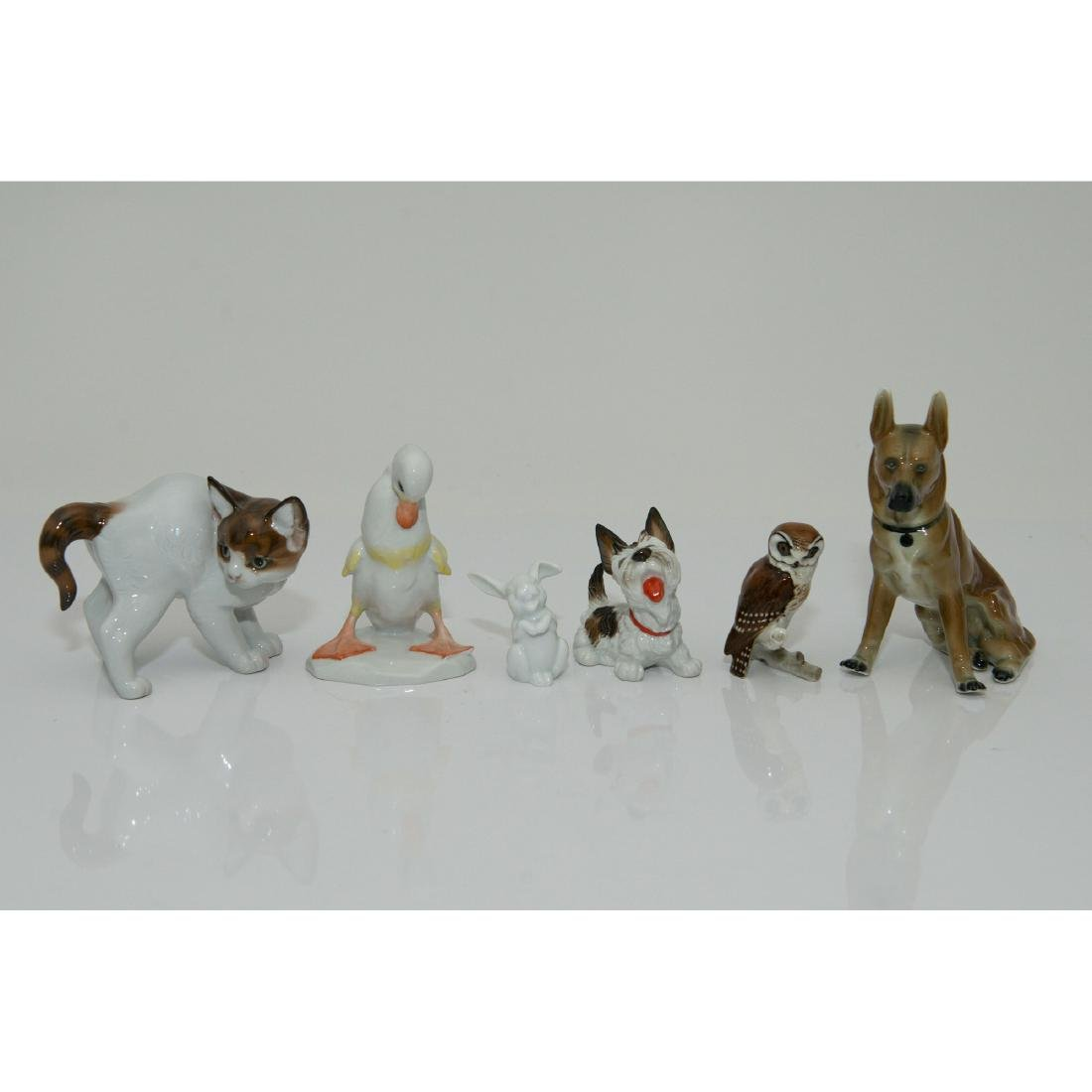 GROUP OF 6 ROSENTHAL HUTSCHENREUTHER ANIMALS