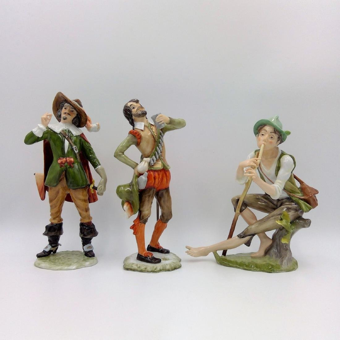 GROUP OF 3 KAISER GERMAN PORCELAIN FIGURINES