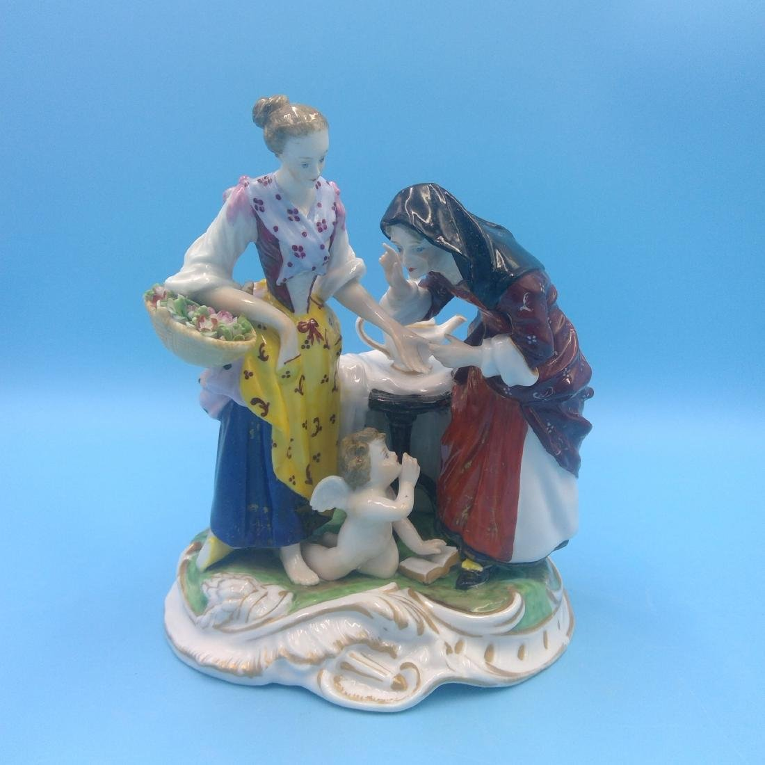 DERBY ENGLISH PORCELAIN GROUP FIGURINE