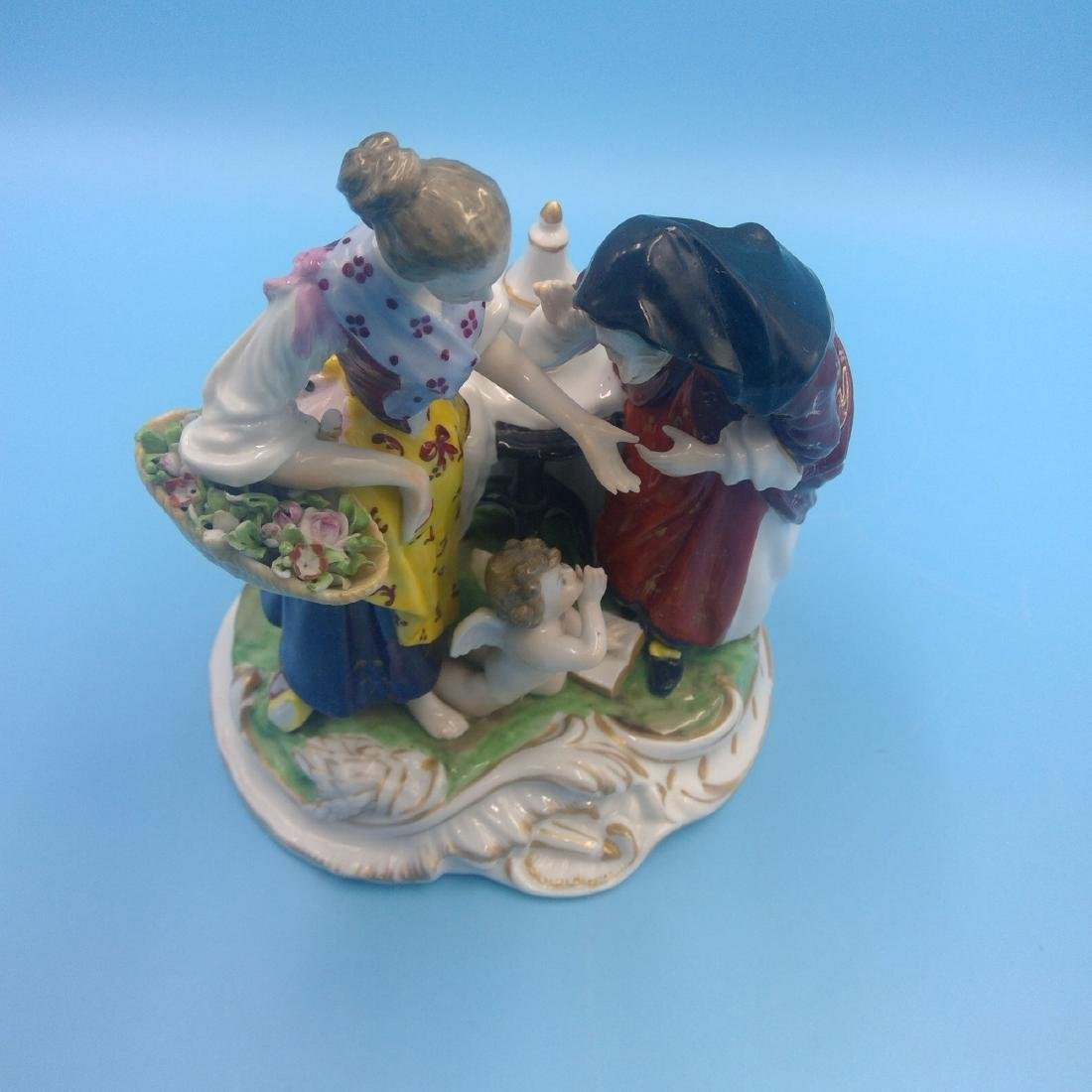 DERBY ENGLISH PORCELAIN GROUP FIGURINE - 5