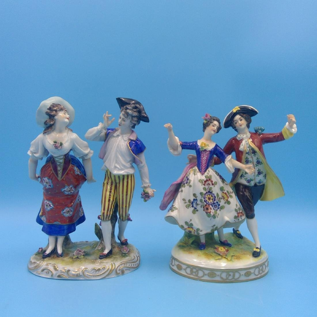 GROUP OF 2 VOLKSTEDT GERMAN PORCELAIN FIGURINES