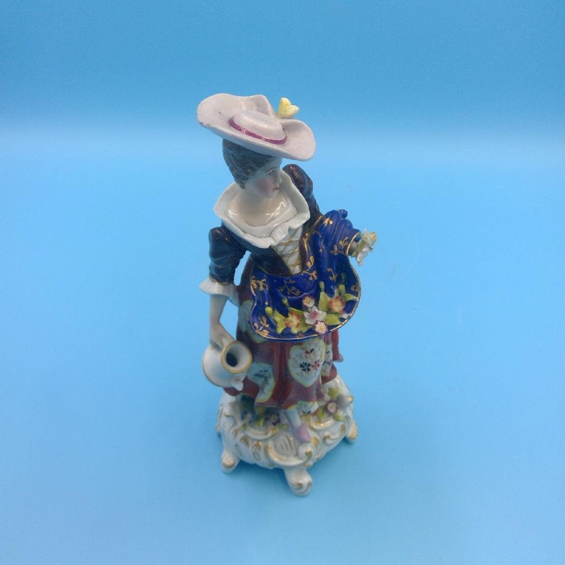 DERBY 18thC ENGLISH PORCELAIN FIGURINE LADY - 5