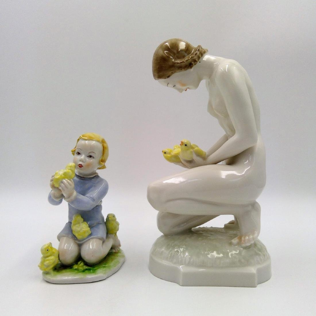 GROUP OF 2 ROSENTHAL & HUTSCHENREUTHER FIGURINES