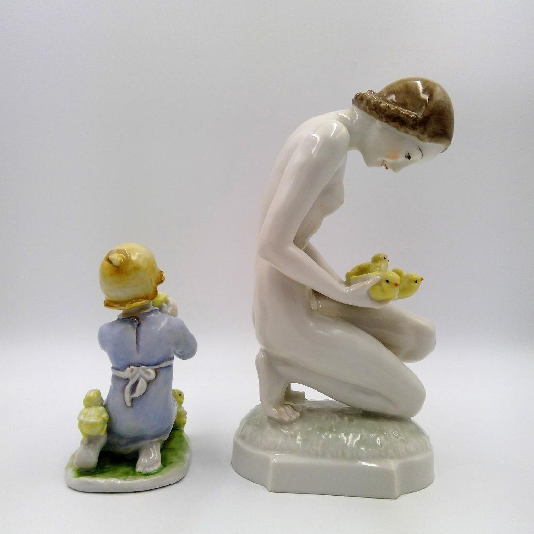 GROUP OF 2 ROSENTHAL & HUTSCHENREUTHER FIGURINES - 3