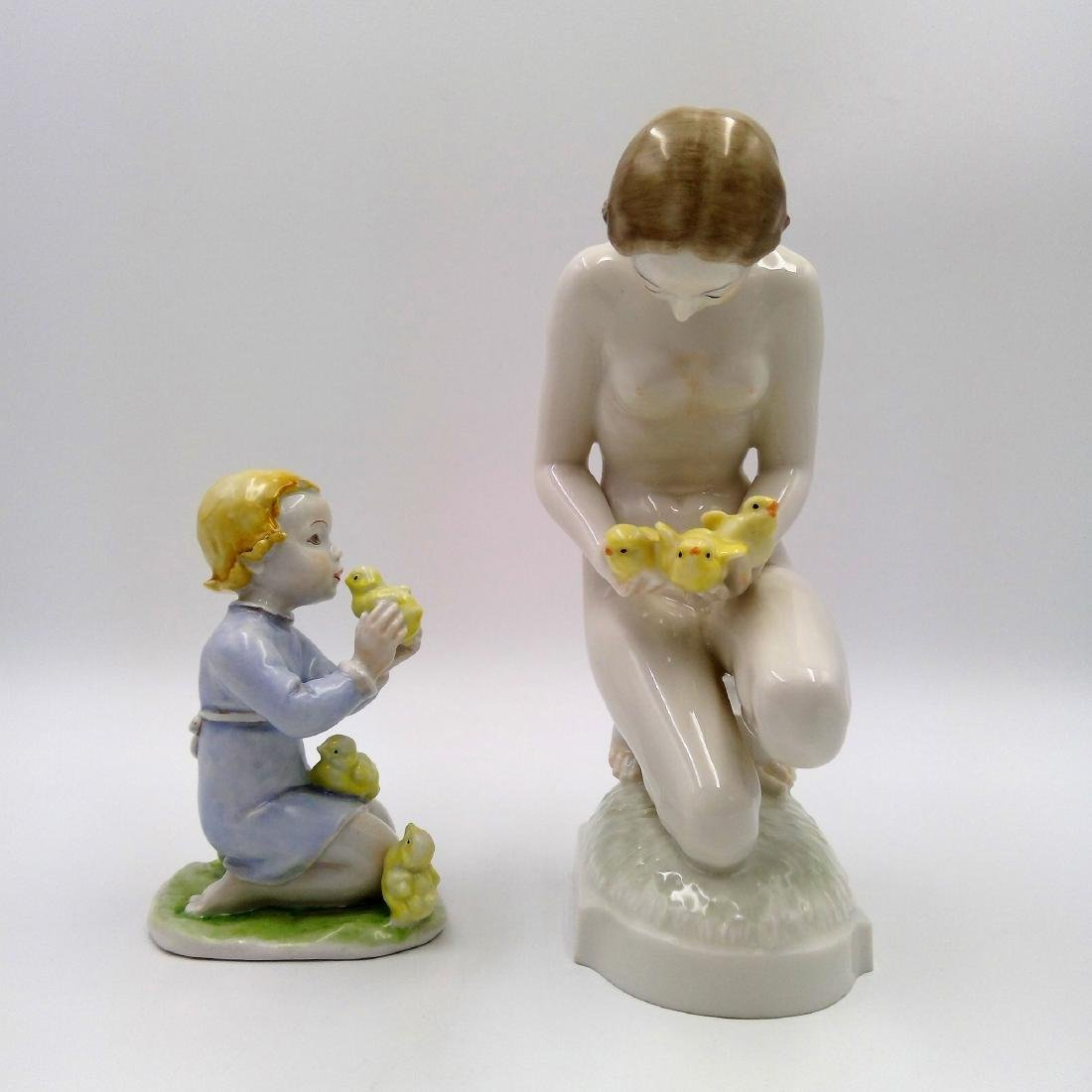 GROUP OF 2 ROSENTHAL & HUTSCHENREUTHER FIGURINES - 4