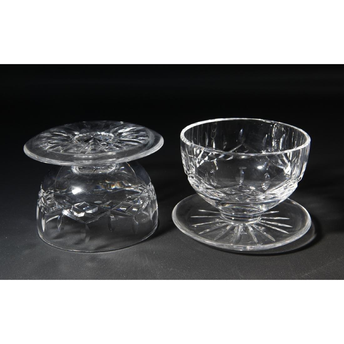 8PC WATERFORD LISMORE GLASSES, CLOCK, PEN HOLDER - 10