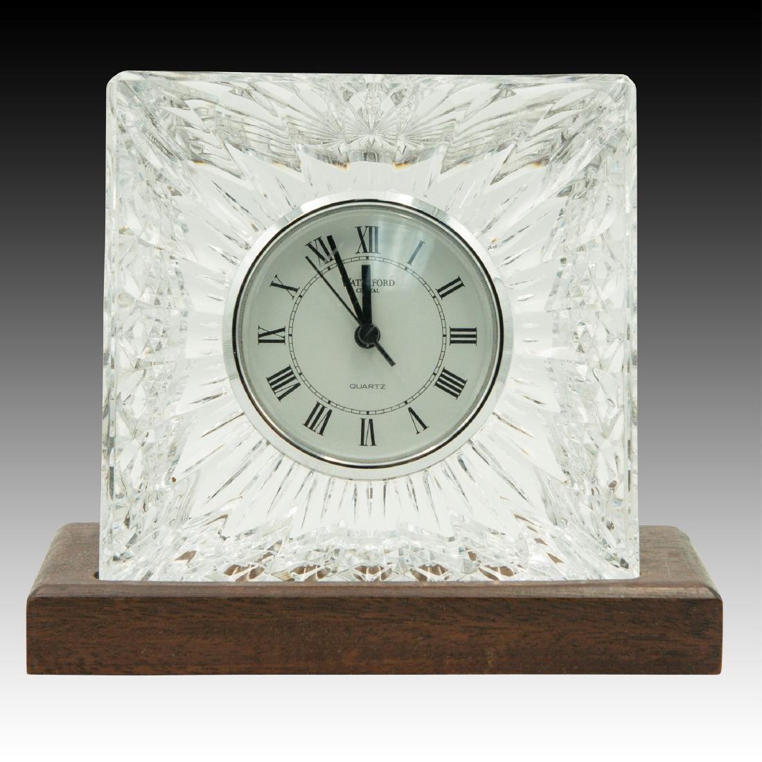 8PC WATERFORD LISMORE GLASSES, CLOCK, PEN HOLDER - 2