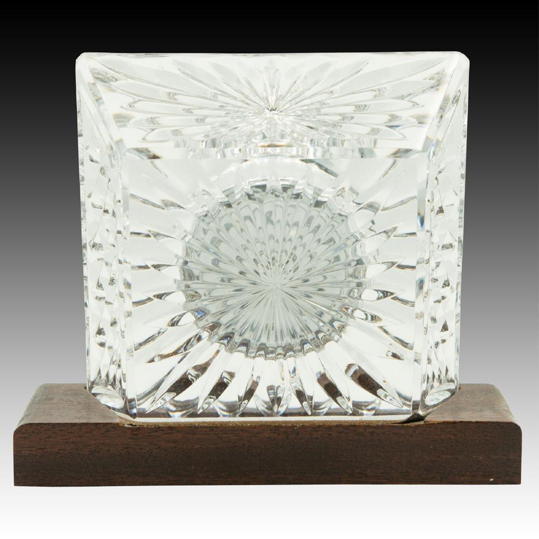 8PC WATERFORD LISMORE GLASSES, CLOCK, PEN HOLDER - 3