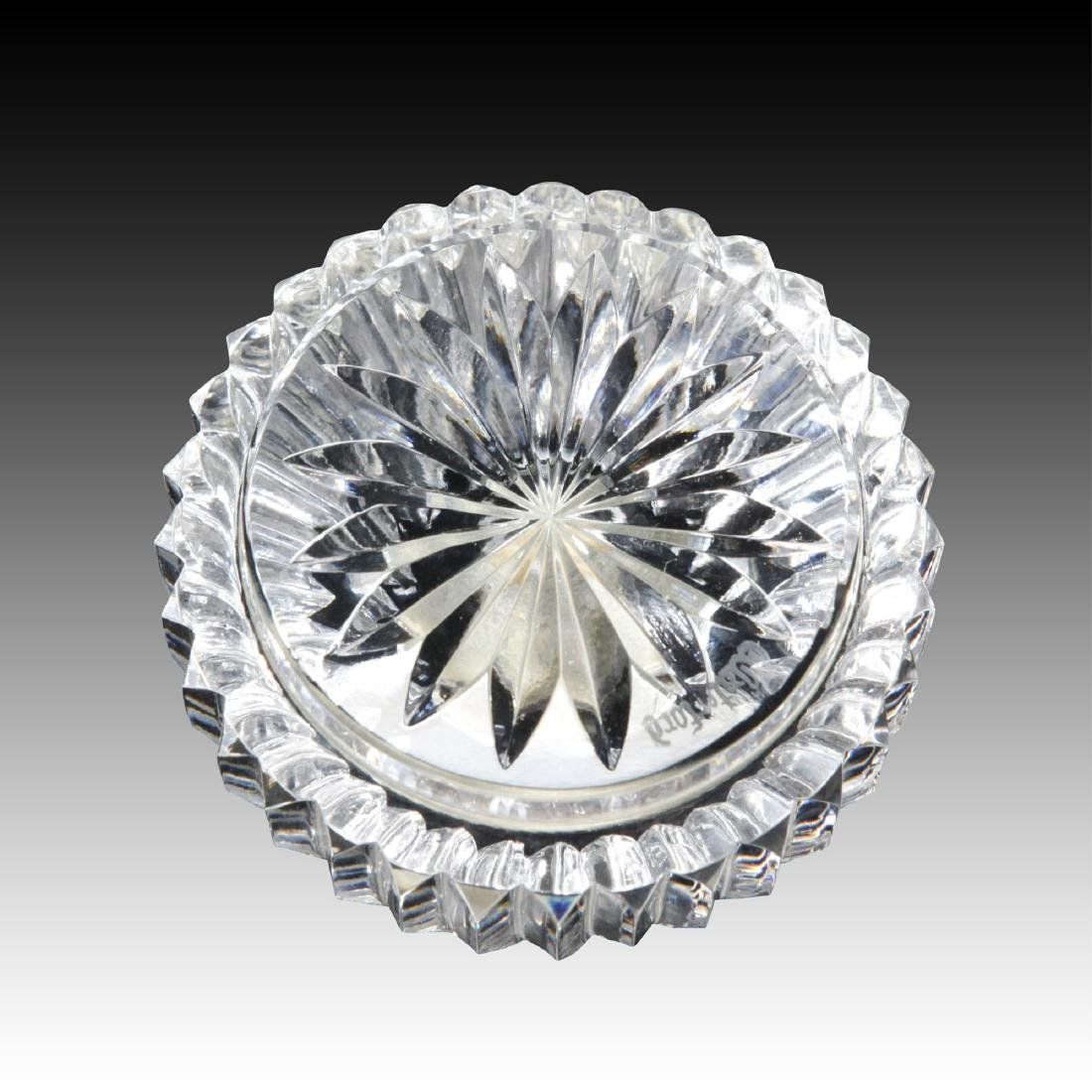 8PC WATERFORD LISMORE GLASSES, CLOCK, PEN HOLDER - 8