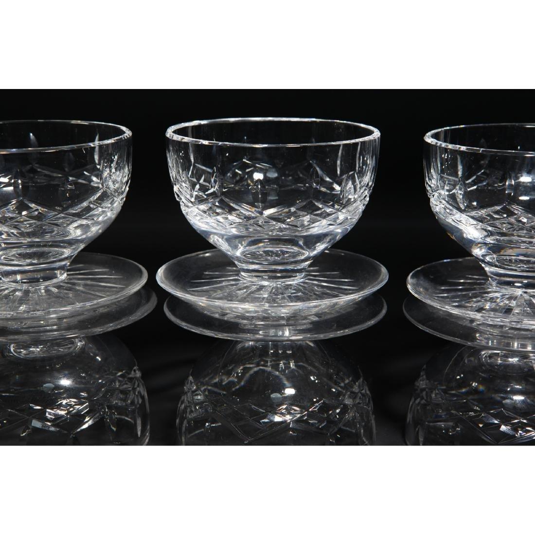 8PC WATERFORD LISMORE GLASSES, CLOCK, PEN HOLDER - 9