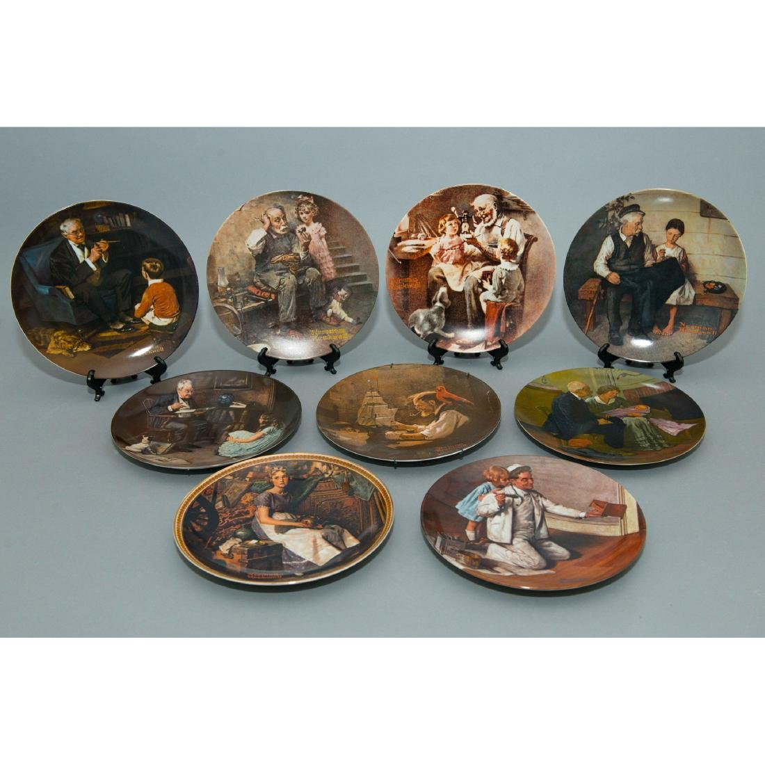 9 NORMAN ROCKWELL COMMEMORATIVE PLATES