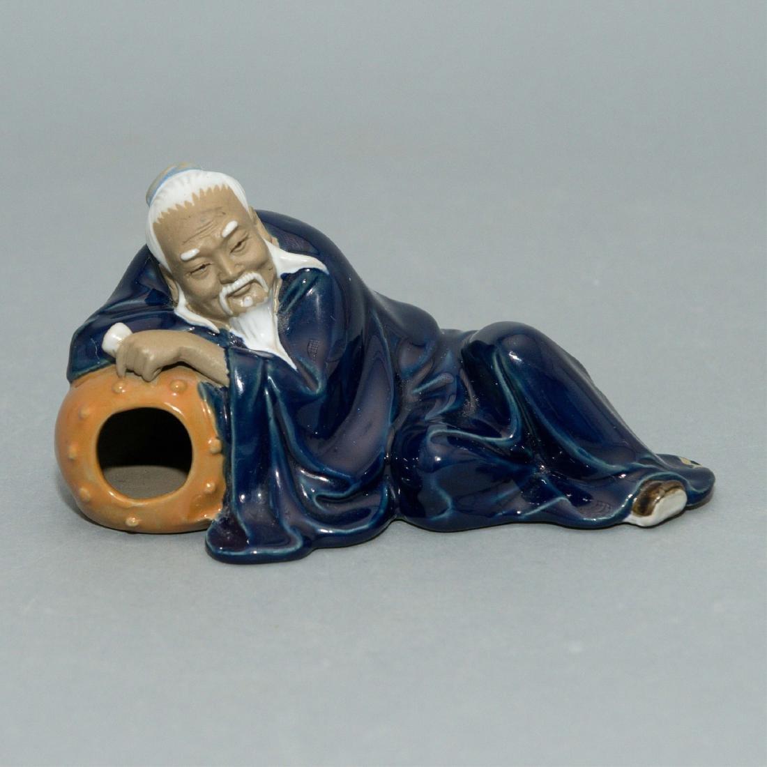 CHINESE MUDMAN FIGURINE, MID-20TH CENTURY