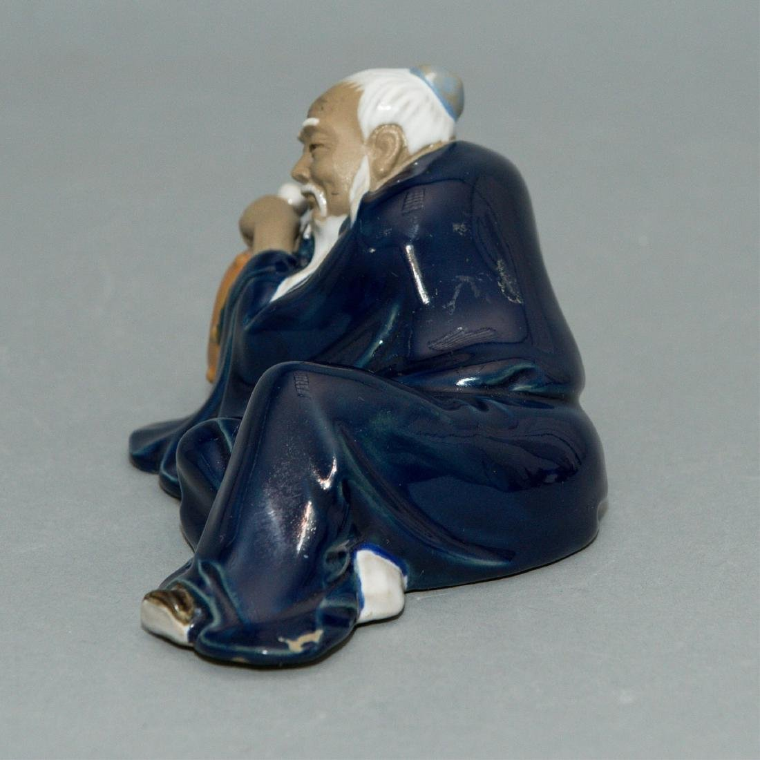 CHINESE MUDMAN FIGURINE, MID-20TH CENTURY - 2