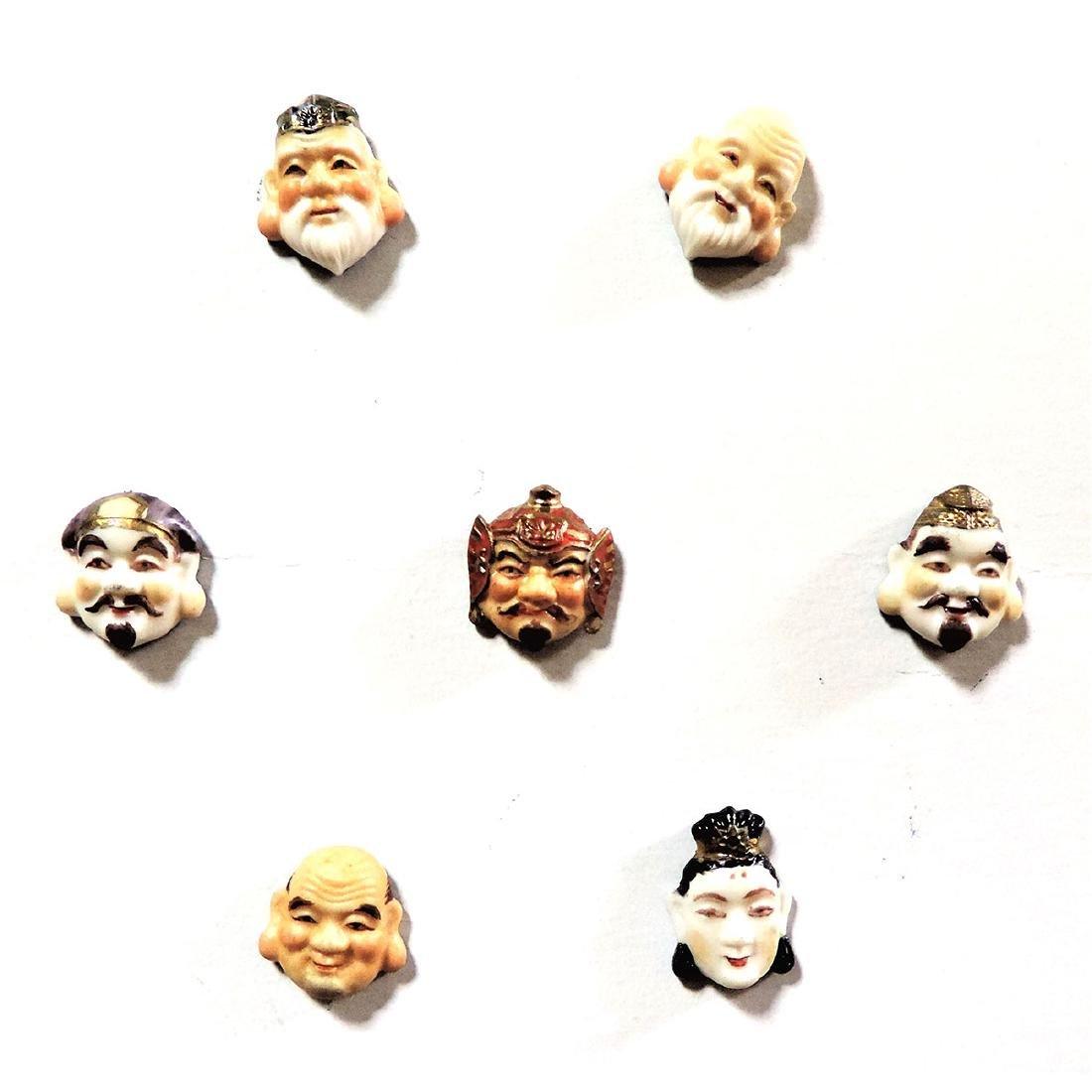 SET OF 7 SMALLER SIZE ARITA GODS BUTTONS
