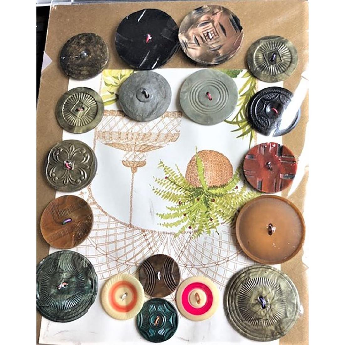 5 CARDS OF CELLULOID BUTTONS INCL COOKIES - 2