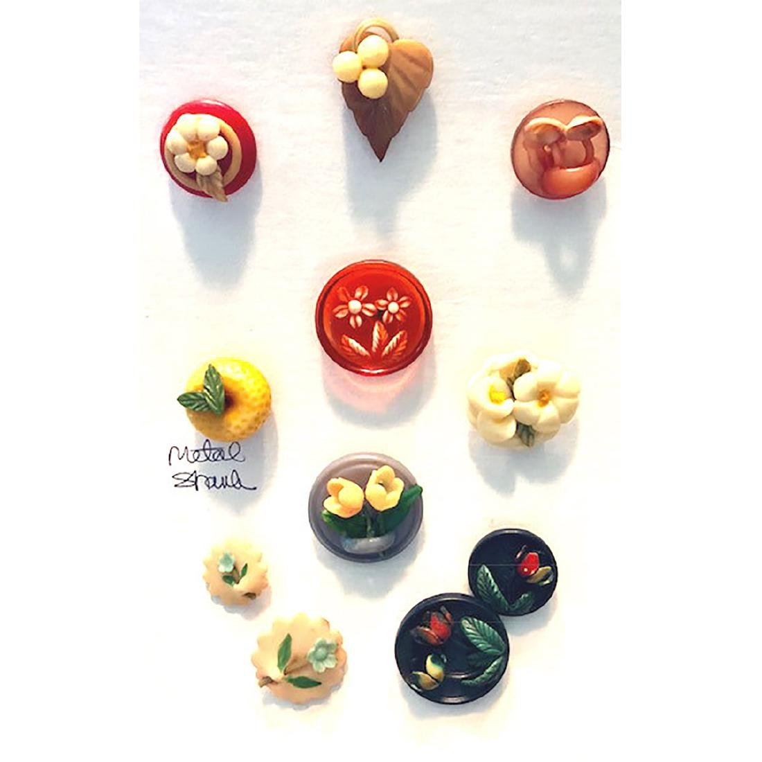 11 MARION WEEBER CELLULOID BUTTONS