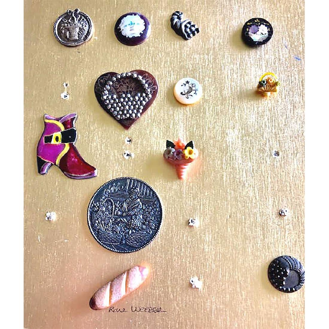 12 M/L MOSTLY BASKET BUTTONS ASSORTED MATERIALS